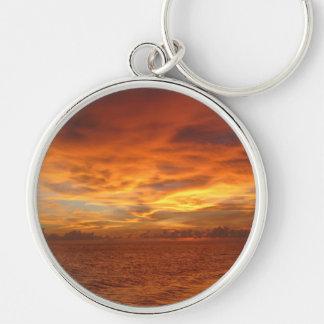 "Florida ""Painted Sky"" Beach Sunset Photo Keychain"