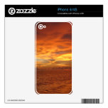 "Florida ""Painted Sky"" Beach Sunset Photo Decal For iPhone 4"