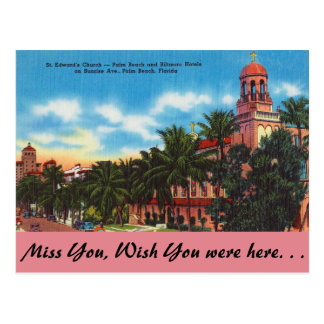 Florida, Palm Beach, Sunrise Avenue Postcard