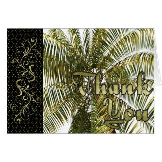Florida Palm Thank You Card