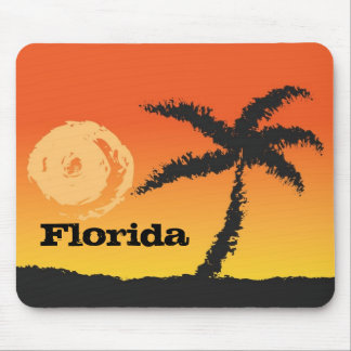 Florida Palm Tree at Sunset Mousepad Novelty Gifts