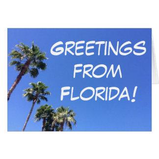 Florida palm tree greeting card