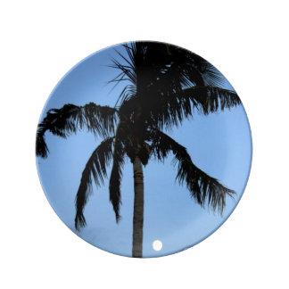 Florida Palm Tree Porcelain Plates