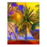 Florida palm trees by Lenny Postcard