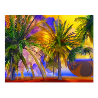 Florida palm trees by Lenny Postcard