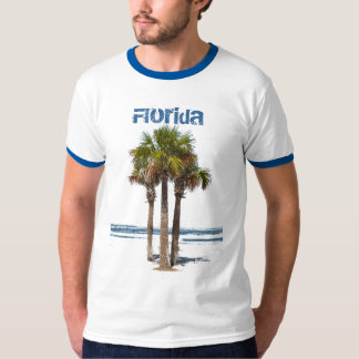 Florida, Palm Trees by Water T-Shirt