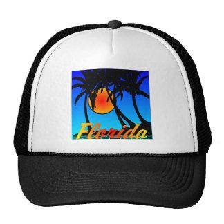 Florida Palm Trees Sunset Trucker Hat