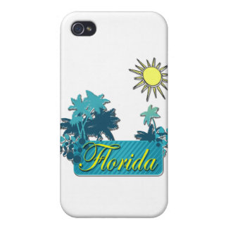 Florida Palms and Sun yellow iPhone 4 Case