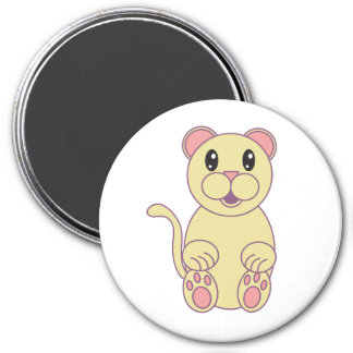 Florida Panther 3 Inch Round Magnet