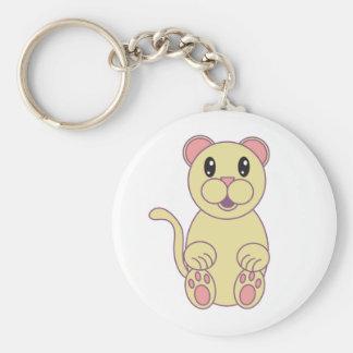 Florida Panther Basic Round Button Keychain
