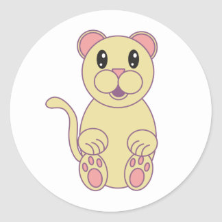 Florida Panther Classic Round Sticker