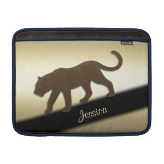 Florida Panther on Gold Personal MacBook Air Sleeve