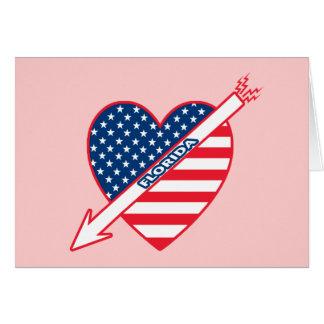 Florida Patriot Flag Heart Card