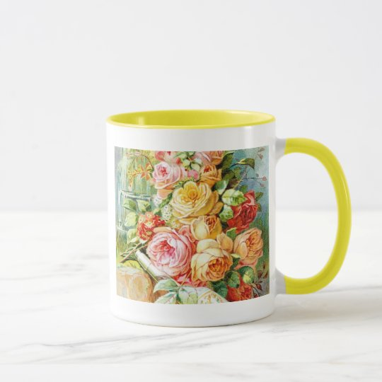 Florida Perfume Water with Cabbage Roses Mug