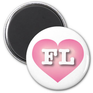 Florida Pink Fade Heart - Big Love 2 Inch Round Magnet