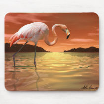 Florida Pink Flamingo Mousepad