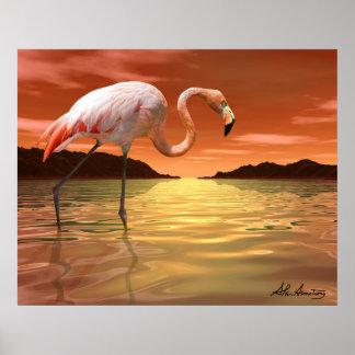 Florida Pink Flamingo Poster
