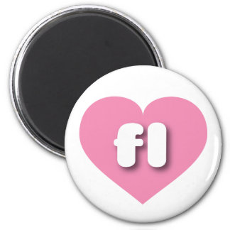 florida pink heart - mini love magnet