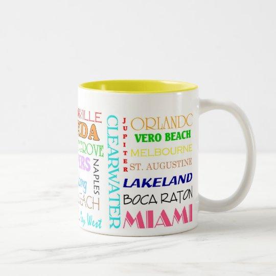 Florida places mug