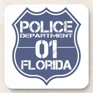 Florida Police Department Shield 01 Drink Coaster
