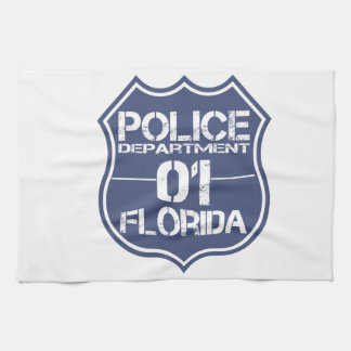 Florida Police Department Shield 01 Hand Towels