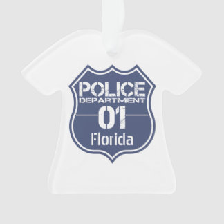 Florida Police Department Shield 01 Ornament