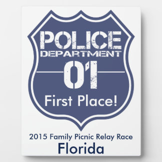 Florida Police Department Shield 01 Plaque
