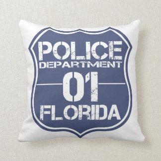 Florida Police Department Shield 01 Throw Pillow