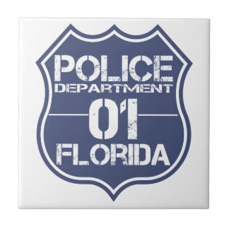 Florida Police Department Shield 01 Tile