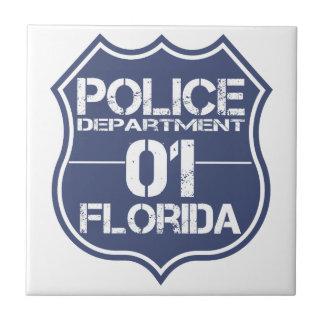 Florida Police Department Shield 01 Tile