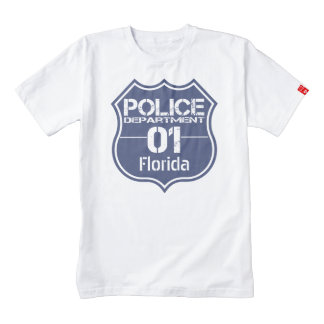 Florida Police Department Shield 01 Zazzle HEART T-Shirt