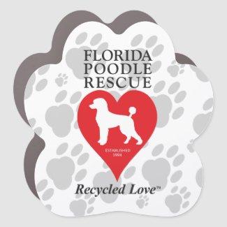 Florida Poodle Rescue Paw Car Magnet