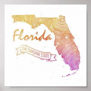 USA Themed Florida Poster