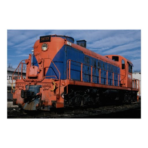 Florida Power and Light Alco RSD-5 at New Hope, Pe Poster