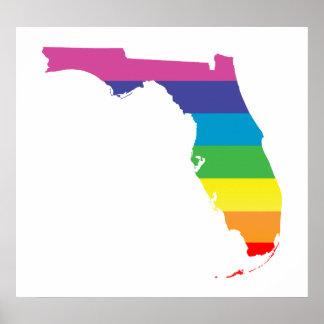 florida pride. striped. poster