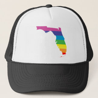 florida pride. striped. trucker hat