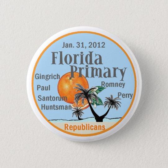 Florida Primary Pinback Button