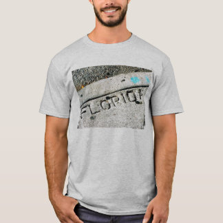 Florida printed in sidewalk Tee