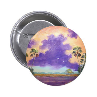 Florida Purple Clouds Pinback Button