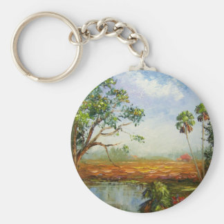 Florida Ranch Painting Keychain