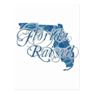 Florida Razed Blue Camo Postcard