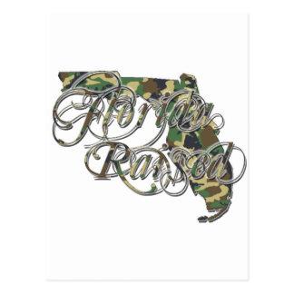 Florida Razed CamoWhite Logo 1 copy Postcard