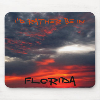 Florida Red - black sky Mouse Pad
