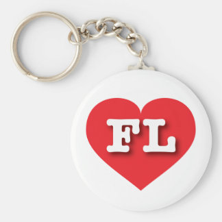 Florida Red Heart - Big Love Keychain
