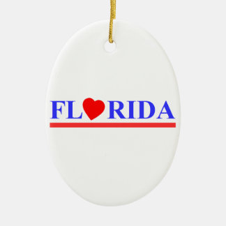 Florida red heartwood of beech ceramic ornament