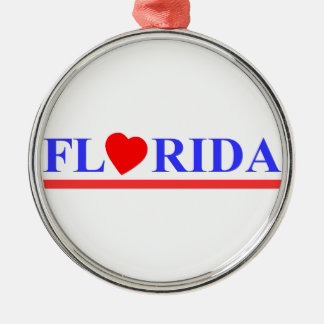 Florida red heartwood of beech metal ornament