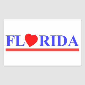 Florida red heartwood of beech rectangular sticker