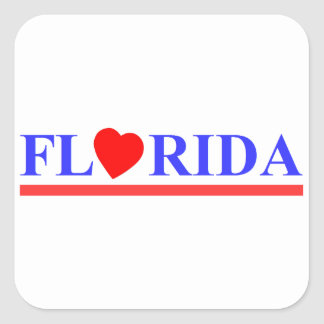 Florida red heartwood of beech square sticker