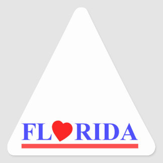 Florida red heartwood of beech triangle sticker