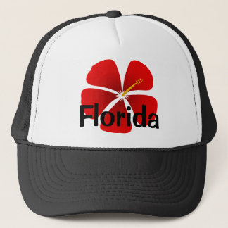 Florida Red Hibiscus Flower Ball Cap